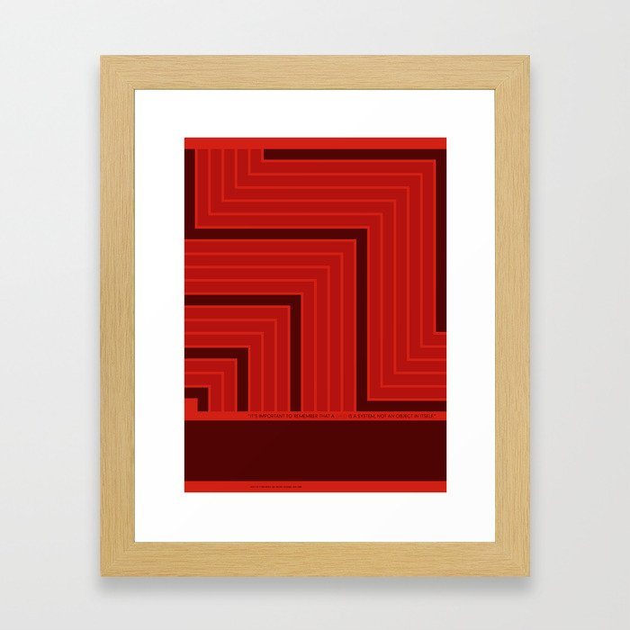 A Grid is a System Framed Art Print