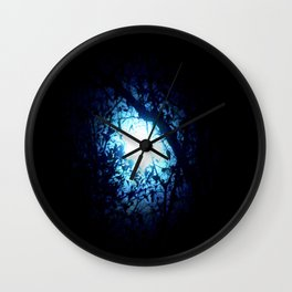 Blue Moonlight Wall Clock