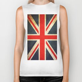 Vintage Union Jack British Flag Biker Tank