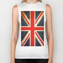 Vintage Union Jack British Flag Biker Tank