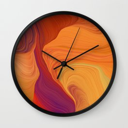 abstract curves and waves art Wall Clock