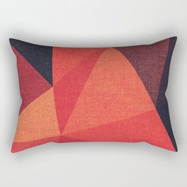 Abstract geometric patter.Triangle background Rectangular Pillow