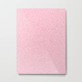 Melange - White and Flamingo Pink Metal Print