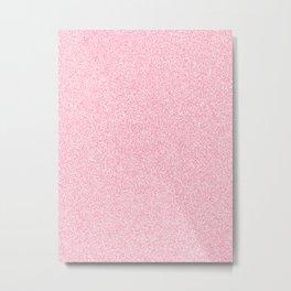 Melange - White and Flamingo Pink Metal Print