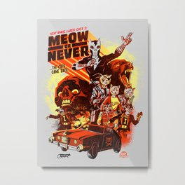 New Wave Laser Cats 2: Meow or Never Metal Print