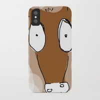donkey iPhone & iPod Cases featuring Donkey by Frances Roughton
