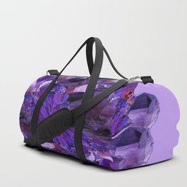 FEBRUARY PURPLE AMETHYST CRYSTAL CLUSTER GEMS Duffle Bag