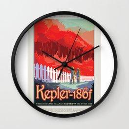 Kepler-186f - NASA Space Travel Poster Wall Clock