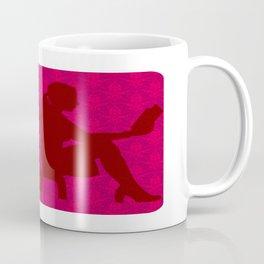 Ladies Love Reading: Red Floral Deco Coffee Mug