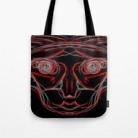 weird Tote Bags featuring Weird by Sean McDaniel