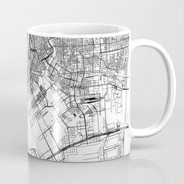 Tokyo White Map Coffee Mug
