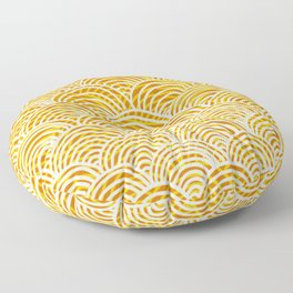 Organge, white and yellow scales Floor Pillow
