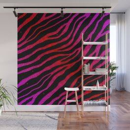 Ripped SpaceTime Stripes - Pink/Red Wall Mural