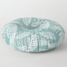 Palm Fronds . Mineral Teal Floor Pillow