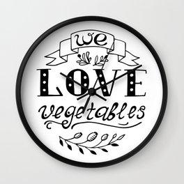 We Love Vegetables Wall Clock