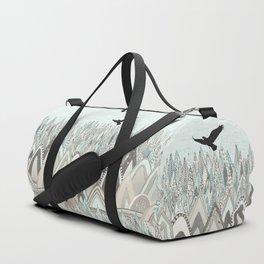 mountains high sky Duffle Bag