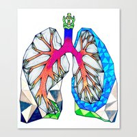 lungs Canvas Prints featuring Lungs by Heidi Failmezger