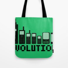 Cell Phone Evolution Tote Bag