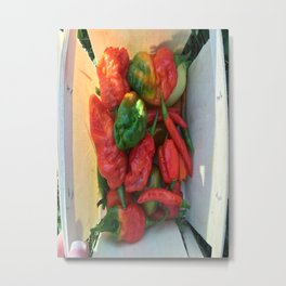 Hot Peppers Metal Print