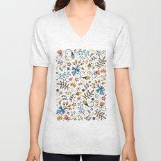 Floral Bloom Unisex V-Neck