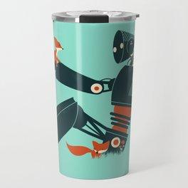 Foxes & The Robot Travel Mug