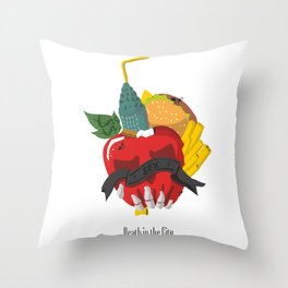Death in the city Throw Pillow