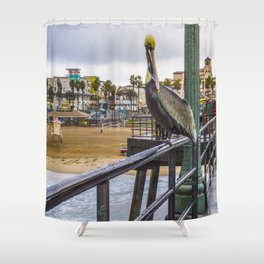 Surf City Life Shower Curtain