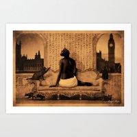 Dark Victorian Portrait: The Lady Bast Art Print