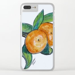 Two Oranges Clear iPhone Case