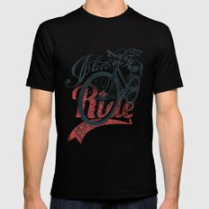 I love to ride MEDIUM Black Mens Fitted Tee