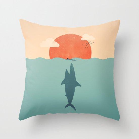 Shark Attack  Throw Pillow