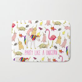 Party Like A Unicorn Bath Mat