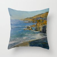 big sur Throw Pillows featuring Big Sur by Michael Creese