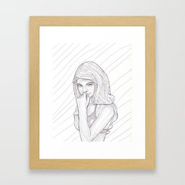 The Rose - Pen and Ink Framed Art Print