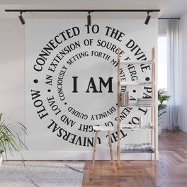 """""""I AM"""" Mantra Wall Mural"""