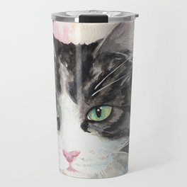 Watercolor Cat 13 My Master Travel Mug