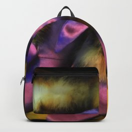 Purple Vintage Shoes with Fur | Fashion Backpack