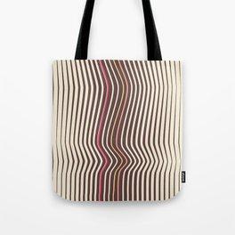OpArt WaveLines 3 Tote Bag
