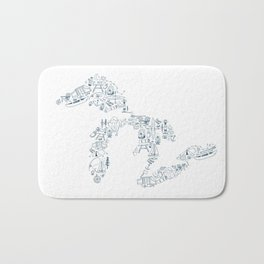 Great Lakes Up North Collage Bath Mat
