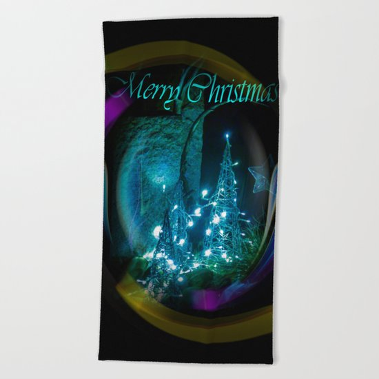 Merry Christmas 2 Beach Towel