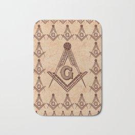 Freemason Symbolism Bath Mat