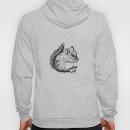 Squirrel black and white sketch Hoody