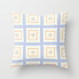 Vintage Handkerchief Pattern Throw Pillow