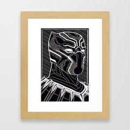 The Prince of Wakanda - Panther Pattern Framed Art Print