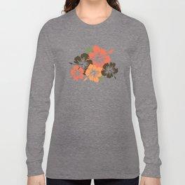 Epic Hibiscus Hawaiian Floral Aloha Shirt Print Long Sleeve T-shirt