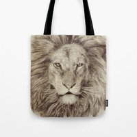 leo Tote Bags featuring Leo by Eric Fan