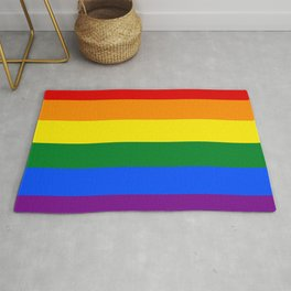 LGBT Pride, Pride Flag, Rainbow Inclusive Gay LGBTQ Equality Diversity Lesbian Bisexual Trans Asexua Rug
