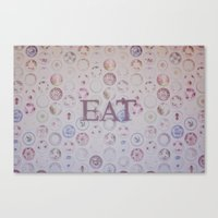 eat Canvas Prints featuring Eat by Hello Twiggs