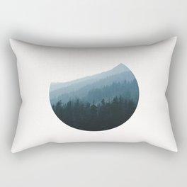 Hazy Mountains II Rectangular Pillow