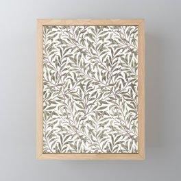 William Morris floral pattern art Framed Mini Art Print